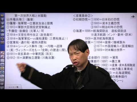 竹内の日本史 戦略図解ボード #060 第一次世界大戦と米騒動