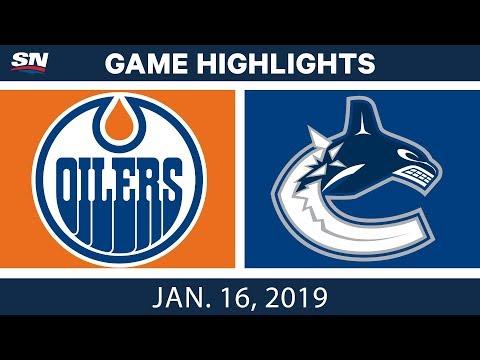 NHL Highlights | Oilers vs. Canucks - Jan. 16, 2019