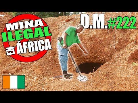 Entro en una MINA DE ORO ILEGAL en ÁFRICA con mi detector de metales (2/2) - Detección Metálica 222