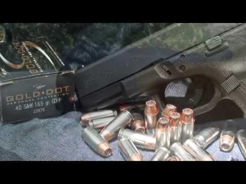 Speer Gold Dot 223 Duty Ammunition Ballistic Gelatin Test - смотреть