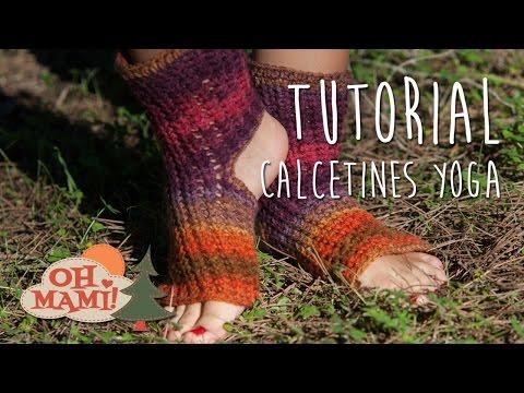 CALCETINES PARA YOGA A CROCHET! (crochet yoga socks)