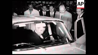 SYND 21 8 68 CEAUSESCU VISITS RENAULT FACTORY, CONDEMNS SOVIETS