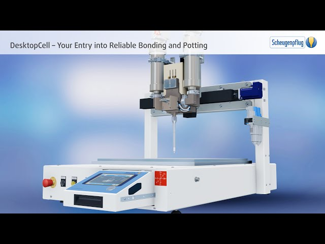Bonding/Potting with Compact Dispensing Robot