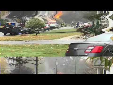 Plane crash two houses on fire in New Jersey breaking news