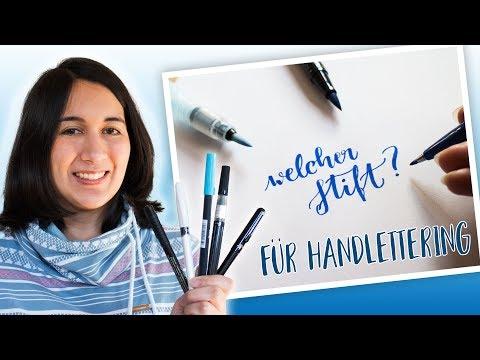 ✍️ Handlettering Stifte - welche für Anfänger? [Deutsch]
