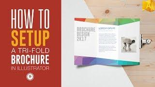 Trifold Brochure For Print In Illustrator - Illustrator Tutorial