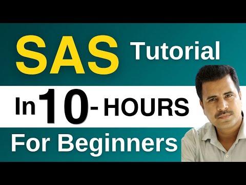SAS Tutorial for Beginners : How to Learn SAS | The Complete  SAS Tutorial