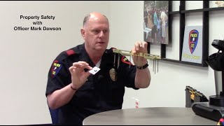 Safety Minute 110 Officer Mark Dawson (Plano) on Property Safety