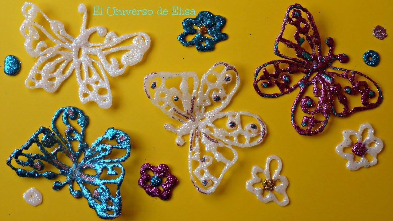 Mariposas de Silicona Caliente, Decora tu Habitación con Brillantes Mariposas, Mariposas de Pascua