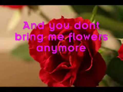 , title : 'You don't bring me flowers (Lyrics) - Barbara Streisand Neil Diamond'