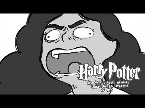 Harry Potter a portrét něčeho, co vypadá jako velká hromada popela