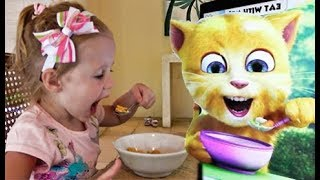 Funny Stacy play Talking Cat Game