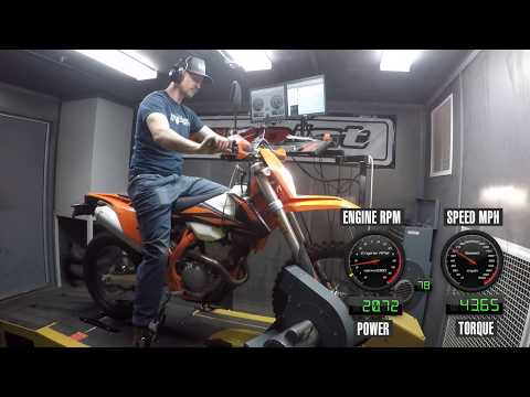 How Much Power Does The 2019 KTM 350 EXC-F Make?