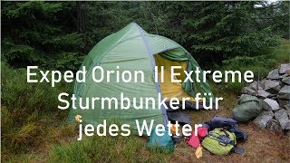 Exped Orion II Extreme Sturmbunker für jedes Wetter
