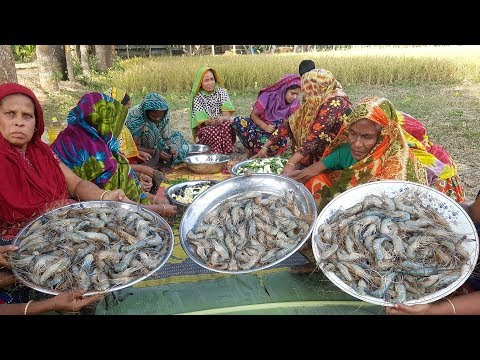 380 Big Loose Prawns/Shrimp & Vegetables Mixed Gravy Curry Cooking To Feed Whole Village People