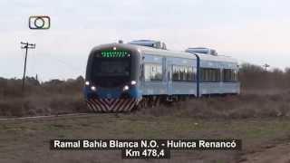 preview picture of video 'Tren inaugural de Trenes Argentinos saliendo de Yacurú y en cercanías de Falucho rumbo a Pico'