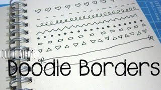 Draw Cute Easy Borders For You Planner / Bullet Journal | Doodle With Me