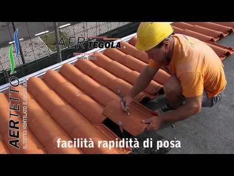 Tegole portoghesi montaggio. Posa tegole ventilate - AERtegola®