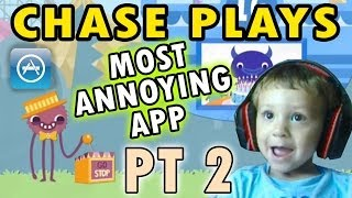 Chase Plays: Most Annoying App PART 2!  Endless 123 (2 Year Old Face Cam)