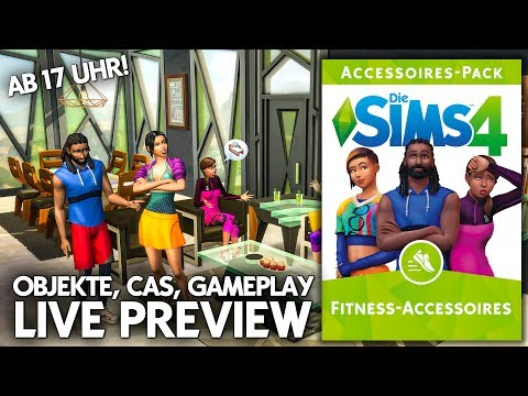 Live Preview | Die Sims 4 Fitness-Accessoires | Baumodus, CAS, Gameplay
