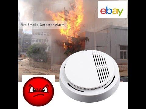 Sensor Detector de Humo Fuego Alarma Sistema De Seguridad Para El Hogar Probador fotoeléctrico