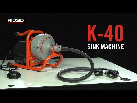 RIDGID K-40 Sink Machine