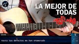 Como tocar La Mejor De Todas en Guitarra | Banda el Recodo Tutorial Acordes Christianvib