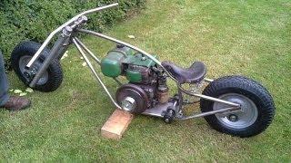 Homemade Mini Bike Chopper Bobber Pt. 1 (GoPro)