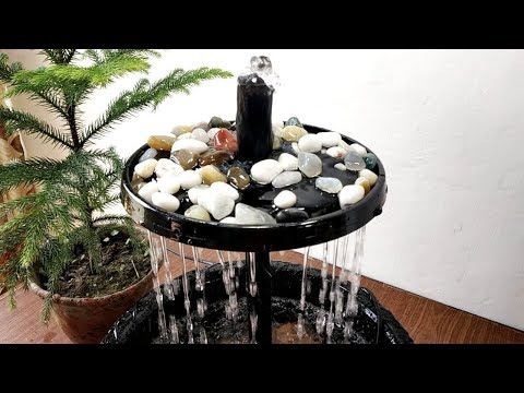 How to make beautiful rain forest waterfall fountain very easy