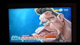 CARICATURAS  EN CANAL 7. VIVO EN ARGENTINA CON LUIS ORDOÑEZ