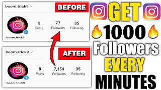 How to Increase INSTAGRAM Followers (2020) | 500 Followers In 2 Minutes With Proof