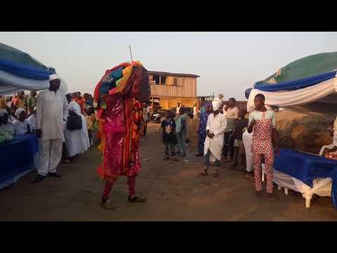 Egungun of Oba  Aina Josiah Ilemobade  oloto of Oto Awori lagos tstate