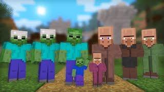 Zombie & Villager Life: Full Animation I   Minecraft Animation