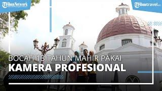 Viral Bocah 13 Tahun Mahir Pakai Kamera Profesional, Jadi Fotografer Cilik di Kota Lama Semarang