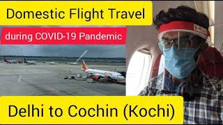 Domestic Flight Travel during COVID-19 Pandemic | Delhi to Cochin(Kochi) by Air India | Unlock 3.0