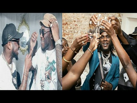 Davido And Wizkid Celebrate With Burnaboy For His Grammy Nomination 2020 • HD