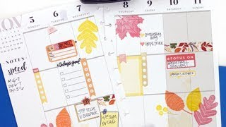 Plan With Me: November 5-11, 2018 [The Happy Planner® Stickers & Stamping How To]