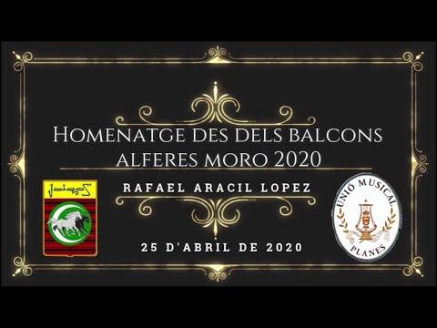 Homenaje al Alferez Moro de la Filà Ligeros 2020 - Rafael Aracil(Banda de Planes)