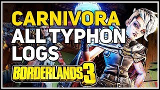 All Typhon Logs Carnivora Borderlands 3
