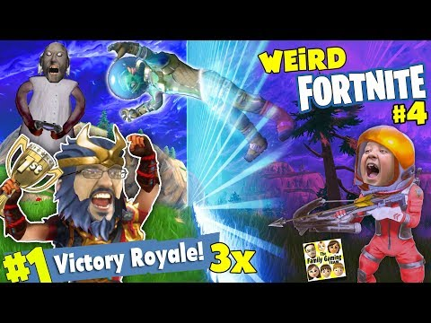 FORTNITE VICTORY ROYALE 3 TIMES! FUNNY GLITCHES STORM ESCAPE & GRANNY got POPPED (FGTEEV #4 w/ MIKE)