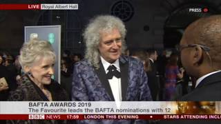 Brian May, Anita Dobson BAFTA Red Carpet 10/02/2019