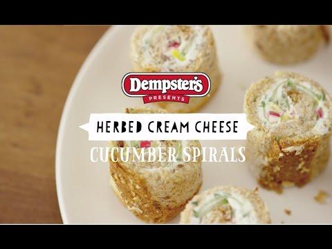 Dempster's Herb Cream Cheese Cucumber Spirals
