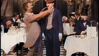 A Night Out (1915) - 1st EDNA PURVIANCE Film - Charlie Chaplin & Ben Turpin - color (Laurel & Hardy)