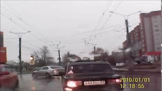 Момент ДТП на улице Ленинского Комсомола. Чебоксары, 13 ноября 2017