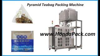 pyramid tea bag packing machine, tea bag packing machine in china youtube video