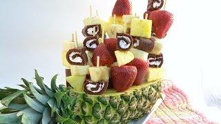 How To Make A Fruit Arrangement - Sweet Swirl Edible Fruit Bouquet   RadaCutlery.com