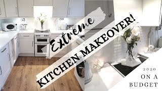 CHEAP KITCHEN TRANSFORMATION ON A BUDGET | HOW TO UPDATE YOUR KITCHEN ON A BUDGET | KITCHEN MAKEOVER