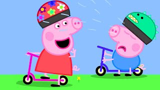 Peppa Pig Official Channel   George Pig Learns to Play Scooter