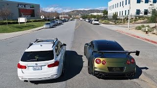 MOTHER VS SON STREET RACE!