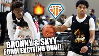 BRONNY & SKYY ARE AN EXCITING DUO!! | LeBron's STRIVE 4 GREATNESS Win Big in 8AM Matchup